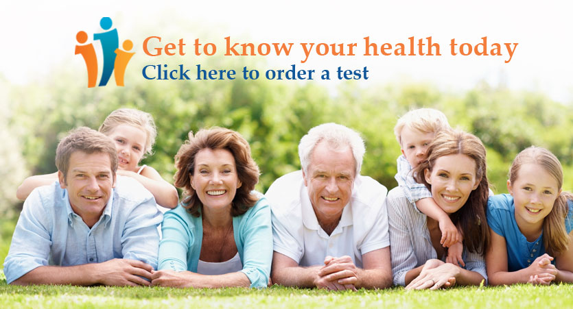 Get to know your health. Click here to order a test.