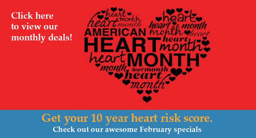 SAVE 10% OFF ON ALL LAB TESTS - Can not be combined with other promotions.  Use promo code: AMRHEART10